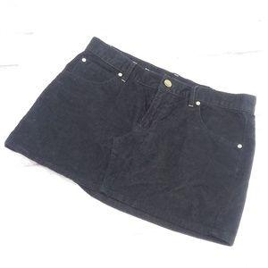 Gap women's Corduroy skirt mini black 27/4